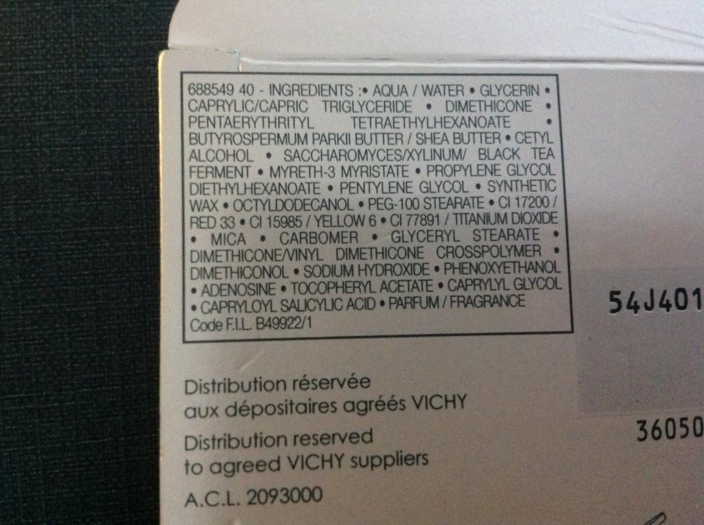 vichy ingredients