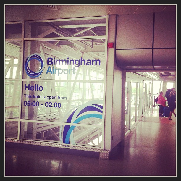 Shuttle to Birmingham Airport.